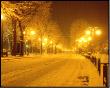 Neve notturna a San Pellegrino Terme